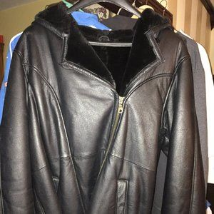 Ladies Wilson Leather Winter Jacket Lined Size 1xl